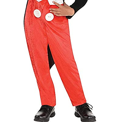 Costumes USA Mickey Mouse Costume Classic for Boys, Includes a Jumpsuit with Shirt and Jacket and a Hat: Clothing