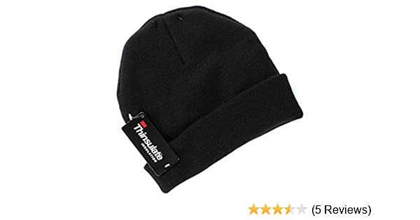 f6fb81923ce Tek Gear Warmtek Knit Lined Watchcap Beanie Hat Adult Unisex One Size Black  at Amazon Men s Clothing store