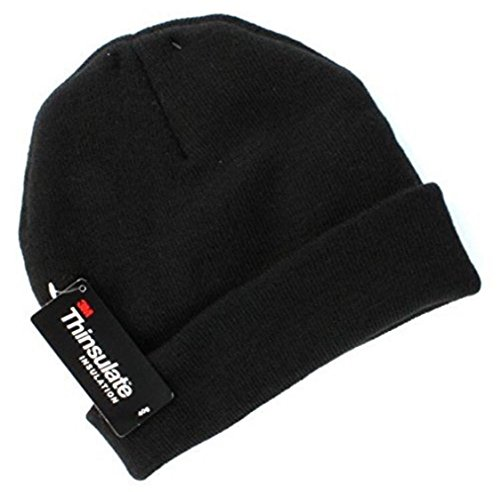 Tek Gear Warmtek Knit Lined Watchcap Beanie Hat Adult Unisex One Size Black