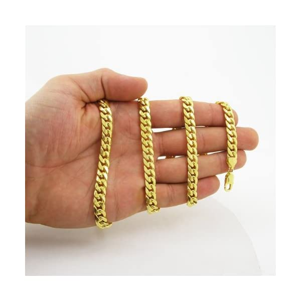 Mens-10k-Yellow-gold-Yellow-gold-miami-cuban-hollow-link-chain-32-75MM-rjmch10