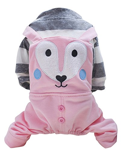 Costume Design Courses London - Freerun Fashion Casual Soft Cotton Dog Hoodie Pet Clothes Cute Fox Print Pet Clothes Costumes - Pink, XL