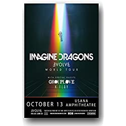 Imagins Dragons Poster - 2017 Evolve Tour 11 x 17 Promo
