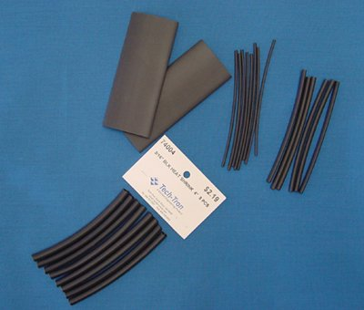 3/32'' BLACK Heat Shrink Tubing 4'' 11/PK