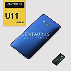Battery Back Cover for HTC U11 U-3w U-3f U-3u Housing Battery Back Door Cover Case Replacement (Blue)
