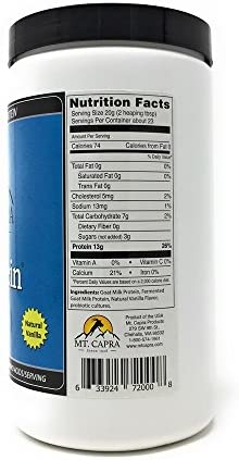 MT. CAPRA SINCE 1928 Caprotein Casein Protein Concentrate, Fermented Goat Milk Protein from Grass-Fed Pastured Goats, Extremely Easy to Digest – 1 Pound