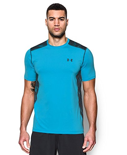 Under Armour Men's Raid S/S Tee, Meridian Blue (987)/Anthracite ()