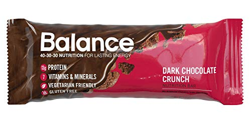 Balance Bar, Healthy Protein Snacks, Dark Chocolate Crunch, 1.58 oz, Pack of 6