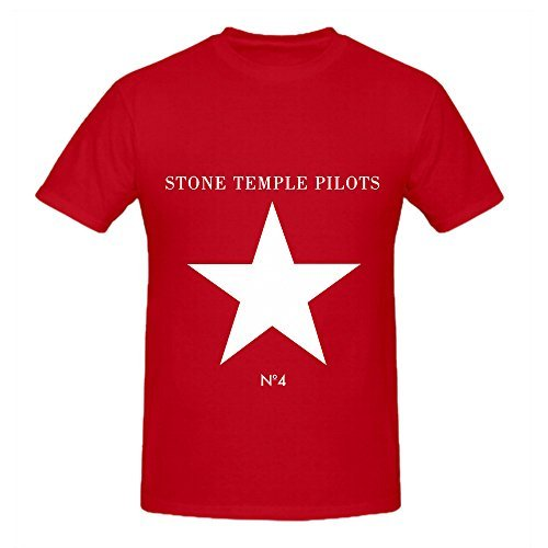 Price comparison product image Stone Temple Pilots No 4 Hits Mens Round Neck Customized Tee Red