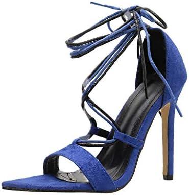 43ef7e7b0a230 LOVOZO Women's Show High Heel Dress Pump Sandals 6.5 Blue: Amazon ...