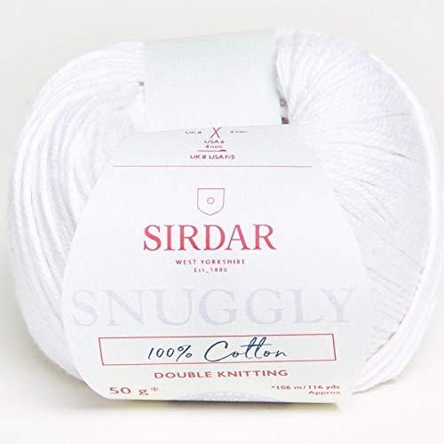 Sirdar - Snuggly 100% Cotton Knitting Yarn - White (# 762) (Sirdar Dk Yarn Snuggly)