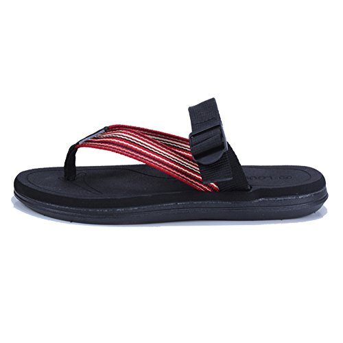 Sandali Grigio Nero Cachi Da Scuro UK8 Grigio Nero Slittata Spiaggia Colore Scarpe Gomma Pantofole dimensioni EU42 Di QIDI scuro 5 Indossare fX0dqAfx