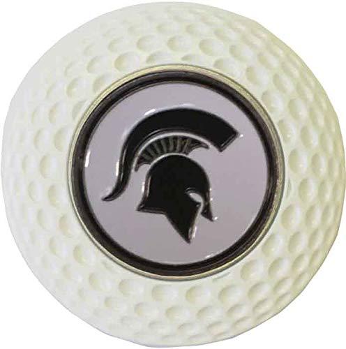 ミシガン州立大学スパルタンズ ゴルフポーカーチップ ホワイト ボールマーカー付き   B07N6J8TTC