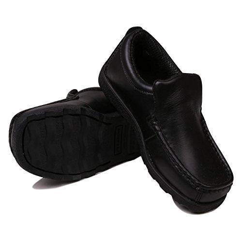 Kangol Kinder Waltham Slip On Moc Toe Schuhe Schwarz