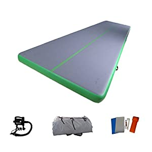 Inflatable Air Track Training Mat for Gymnastics 16 Feet with Electric Pump
