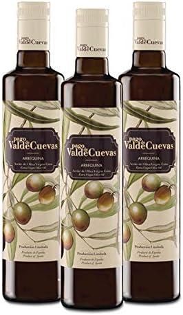 Aceite de Oliva Virgen Extra Pago de Valdecuevas 500 ml, caja de 3 unidades, x3, 100% Arbequina: Amazon.es: Alimentación y bebidas
