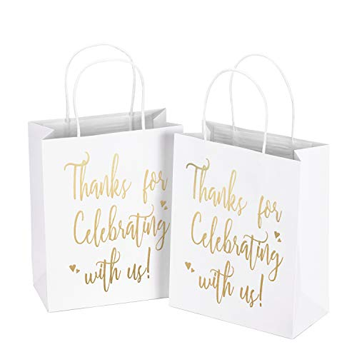 LaRibbons Medium Size Gift Bags - Gold Foil