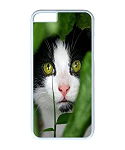 VUTTOO Iphone 6 Case, Sneaky Cat Hard Case for Apple iPhone 6 4.7 Inch PC White