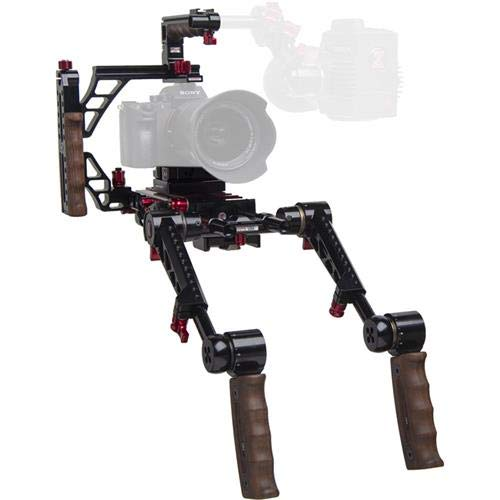 Zacuto Indie リコイルリグ デュアルトリガーグリップ ミラーレスおよびデジタル一眼レフカメラ用   B07GFPY4PV