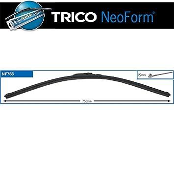 TRICO - Escobillas Limpiaparabrisas Neoform Accesorio Coche 750Mm Side Pin, Talla: 855X70X35mm: Amazon.es: Coche y moto