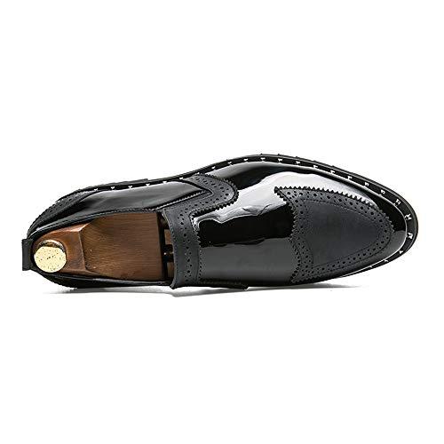 classiche da in Oxford Nero Color da vintage Dimensione pelle 2018 patchwork uomo shoes EU Scarpe da 43 cerimonia Fang casual Scarpe Primavera Gold moda uomo Estate PCxOqXnZw