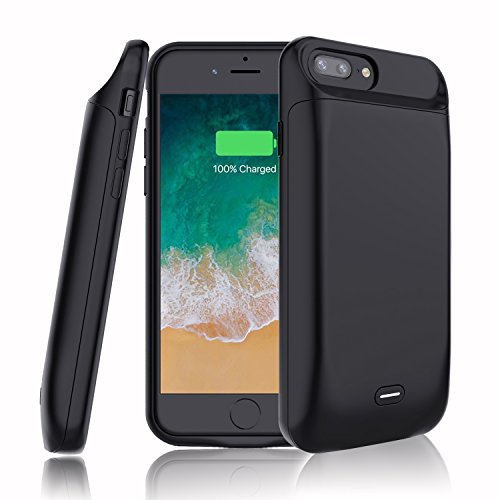 iPhone 7 Plus Battery Case,7200 mAh Rechargeable External Battery Portable Power Charger Protective Charging Case for iPhone 8 Plus/7 Plus/6s Plus/6 Plus