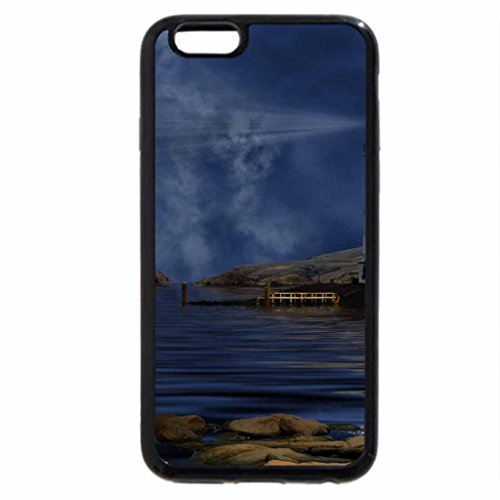 iPhone 6S / iPhone 6 Case (Black) gorgeous lighthouse in the moonlight