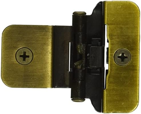 Amerock CM8700AE Double Demountable Hinge In .38 In. Inset   Antique Brass    Cabinet And Furniture Hinges   Amazon.com