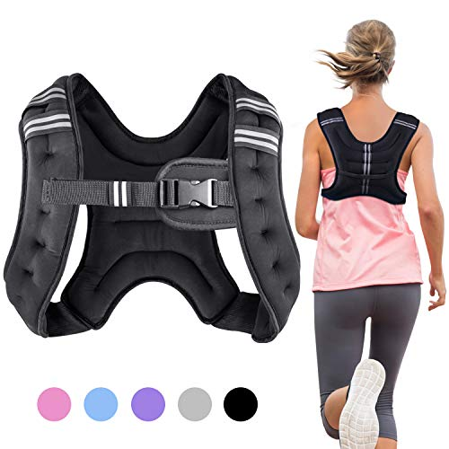 Henkelion Running Weight Vest for Men Women Kids Weights Included