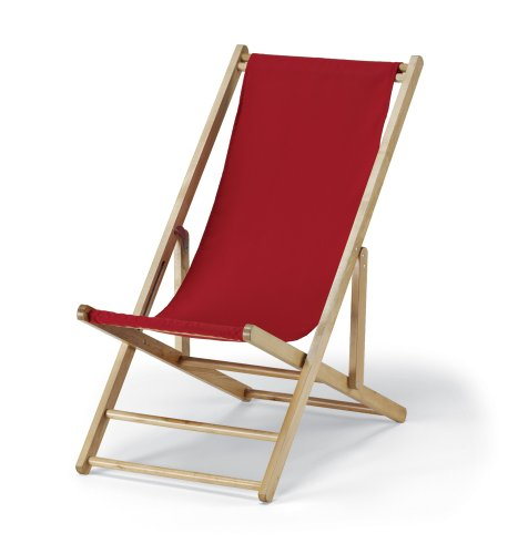 Telescope Casual Cabana Beach Folding Chair, China Red (Beach Lounge Cabana)