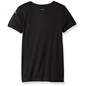 adidas Big Girls' Short Sleeve Graphic Tee Shirts, Black, M