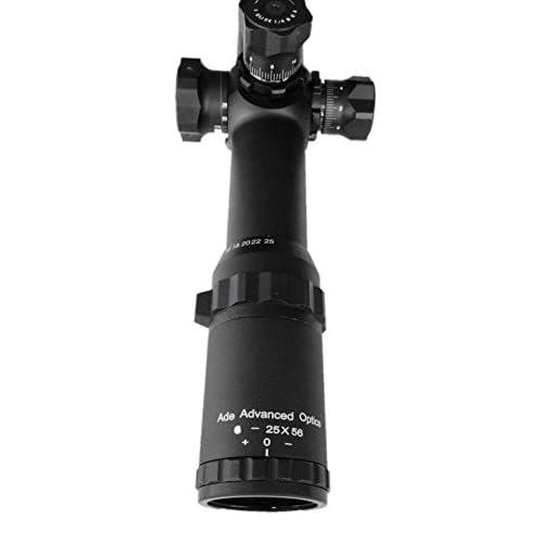 Ade Advanced Optics 6-25x56 35mm Long Range Rifle Scope Mil-dot Bar Side Focus