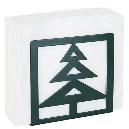 MyGift Christmas Tree-Design Green Metal Napkin Holder -