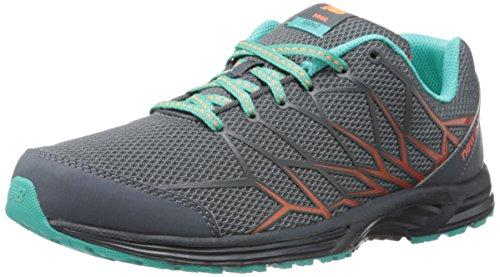 New Balance Women's WT330 Trail Trail Shoe,Grey/Teal,9.5 B US