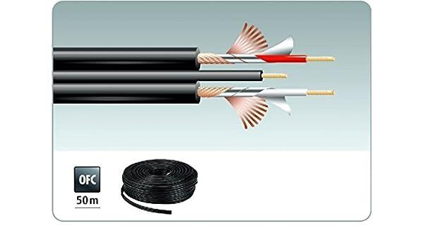 Carpower 50 M bobina de alta flexible cable de audio: Amazon.es ...