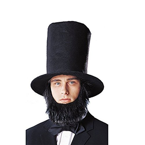 Abraham Lincoln Top Hat With Beard - Lincoln Hat With Beard