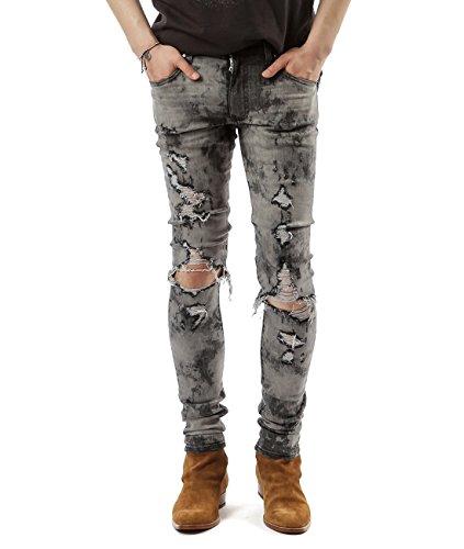 Wiberlux Amiri Men's Pre-Damaged Skinny Jeans 30 Vintage (Acne Jeans Skinny Jeans)
