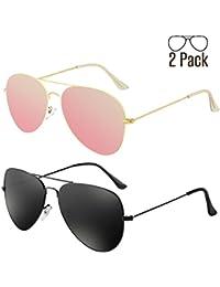 G Sunglasses for Men Women Aviator Polarized Metal Mirror...