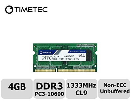 Timetec Hynix IC 4GB DDR3 1333MHz PC3-10600 Non ECC Unbuffered 1.5V CL9 1Rx8 Single Rank 204 Pin SODIMM Laptop Notebook Computer Memory Ram Module Upgrade(High Density - Components Aopen Mini Pc