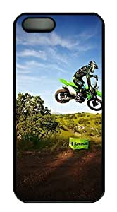 Kawasaki Motocross Jump Polycarbonate Custom iPhone 5S/5 Case Cover - Black