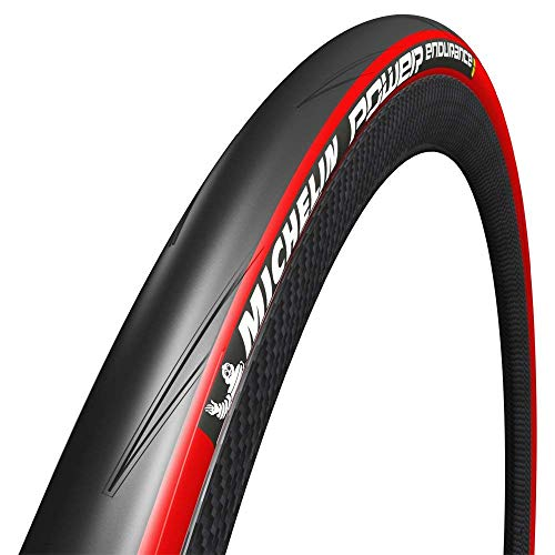 MICHELIN Power Endurance Road Bike Tyre 700X23C Red