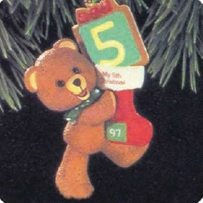 Hallmark Childs Fifth Christmas Ornament - 9
