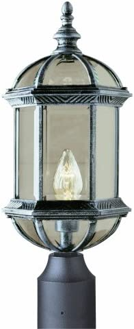 Trans Globe Lighting 4186 BK Outdoor Wentworth 19.75 Postmount Lantern, Black