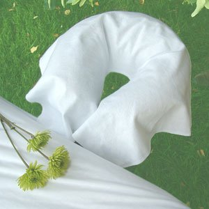 Drape Face Cradle Cover - Cotton Flannel DRAPED Face Cradle Cover, White