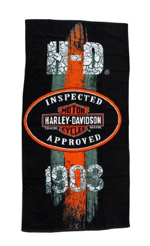 Harley-Davidson 1903 Vintage Road Sign Beach Towel 30 in. X 60 in.