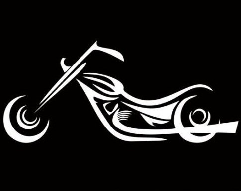 Motorcycle Sticker Vinyl Decal - Harley Davidson Racing Yamaha Bike Car Window, Die cut vinyl decal for windows, cars, trucks, tool boxes, laptops, MacBook - virtually any hard, smooth surface