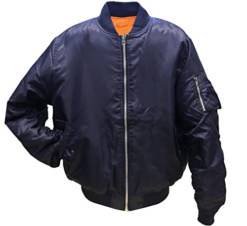 Navy Blue Flight Jacket - 7