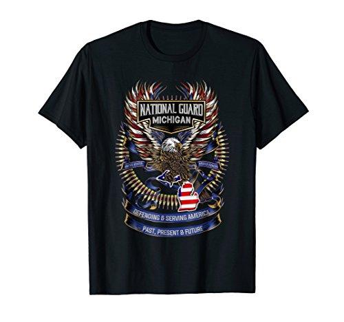 National Guard Michigan Patriotic Armed Forces T-Shirt