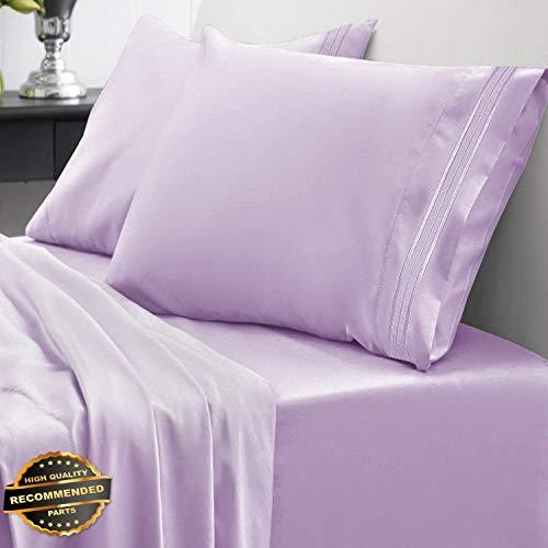 gyptian Comfort 1800 Thread Count 4 Piece Bed Sheet Set Deep Pocket | LINENIENHM-182011257 California King ()