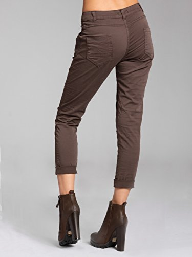 Pantalon Femme Caspar Pour Marron En Stretch Coton Khs026 5Bwqx6Ywf