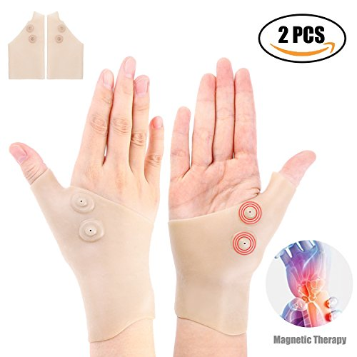 2 Gel Wrist Support Braces Gel Carpal Tunnel Wrist Brace,Thumb Hand Wrist Support Relief for Arthritis, Carpal Tunnel, Tendinitis for Men and Women by Sammiu